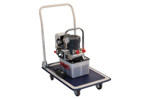 Bis zu 4 Hebegeräte können an der Hydraulische Elektropumpe JPE angeschlossen werden.