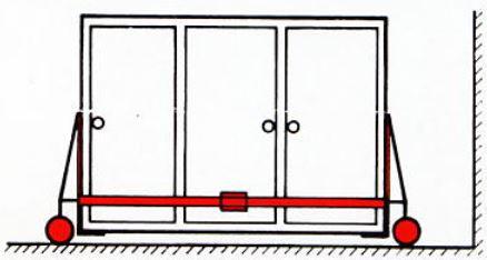 Zweites Hubroll Modul befestigen, Welle entfernen.