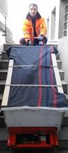 Tresortransport über Treppen mit unserem Kletter Kuli
