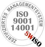 Wir sind ISO 9001 und ISO 14001 zertifiziert.