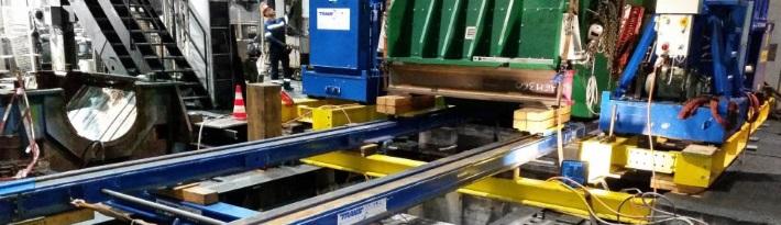 Schwertransport eines 160 Tonnen Generator Stator und Rotor