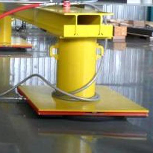 Montiertes Luftfilm-Transport-System im Einsatz
